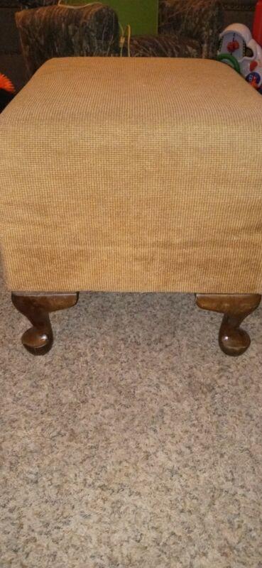 Vintage upholstered foot stool