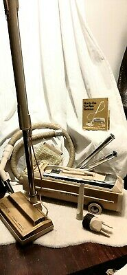 Electrolux Vacuum Super J 1401 Canister Vintage Gold - Works Perfect!