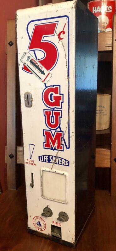 Vintage 5 Cent Wrigley's Gum and Life Savers Dispenser - Shipman Mfg Co