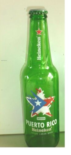 Puerto Rico Heineken 1 botlle limlite edition with the P.R.star flag