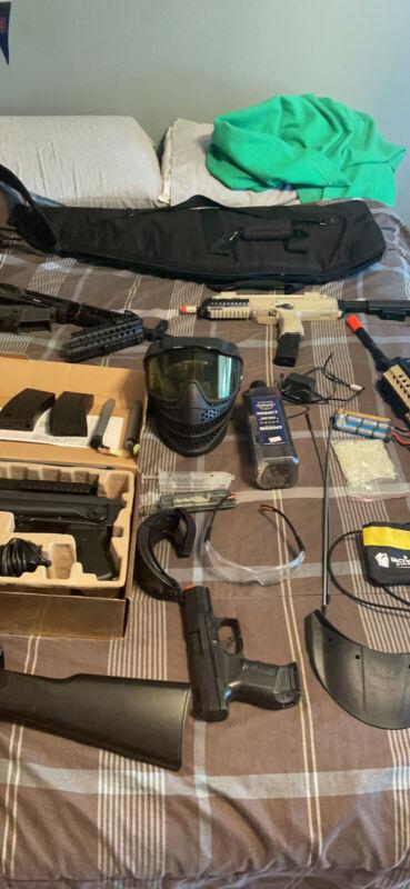 airsoft gear and gun lot