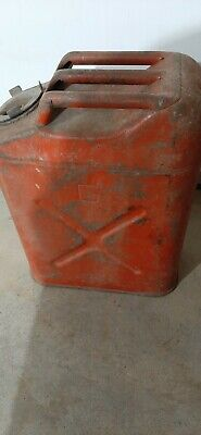 Vintage Dot-5 Usmc 5 Gallon Gas Can Fuel Blitz Jerry Jeep Red Military