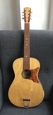 Vintage Acoustic Cremona Guitar - Made In Czechoslovakia - Woody Guthrie - Nice!