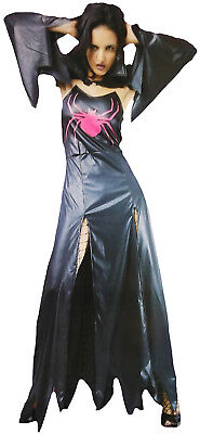 Spinnenfrau Kostüm Damen Kleid Cape Königin Geisterstunde Halloween Fasching