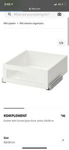 KOMPLEMENT 50cm Drawer white with glass front.