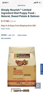 New,whole bag—Simply Nourish Puppy Food
