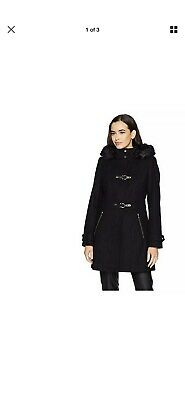Ivanka Trump  Faux Fur Trim  Coat  US Size 4-          UK 8 BNWT Women RRP $400