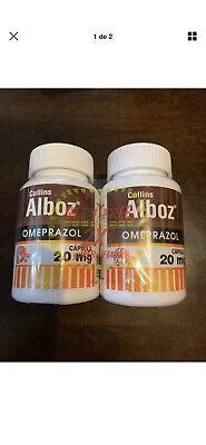2 Alboz Omeprazole 20mg OTC 120 caps. Acid Reflux & Heartburn Reducer.