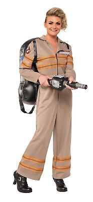 Ghostbusters Costume Adult Womens Halloween Jumpsuit Backpack Proton Wand SM-LG