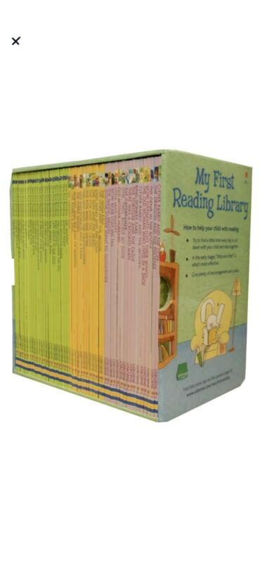 USBORNE MY FIRST READING LIBRARY 50 BOOKS SET COLLECTION - By Various BRAND NEW