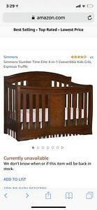 Simmons Elite Convertible Crib 4 in 1 ( truffle espresso colour
