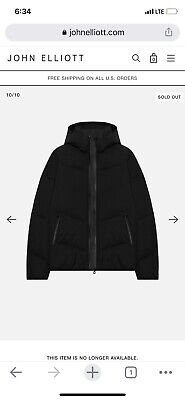 John Elliott x Descente Allterrain Mizusawa Down Jacket Black Size 2 Medium