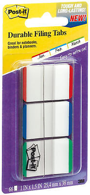 3m Post It Tabs 1 X 1.5 Writable Repositionable 3 Lined Colors 66pk