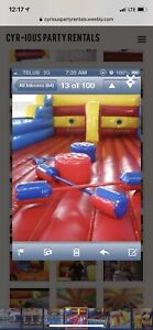 Inflatable bungee run/ jousting