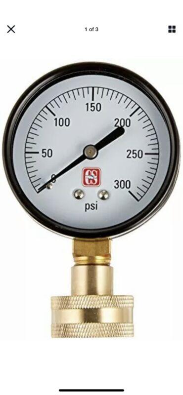 Eastman 45169 Water Pressure Test Gauge, Brass 2.5T,
