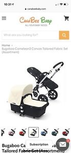 ***Brand New in Box, Bugaboo Cameleon Tailored Fabric Set***
