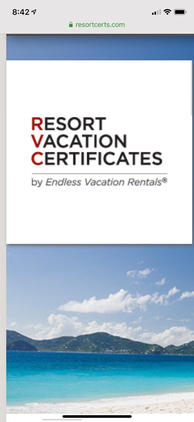 Resort Vacation Certificate around the World  7 Night Stay
