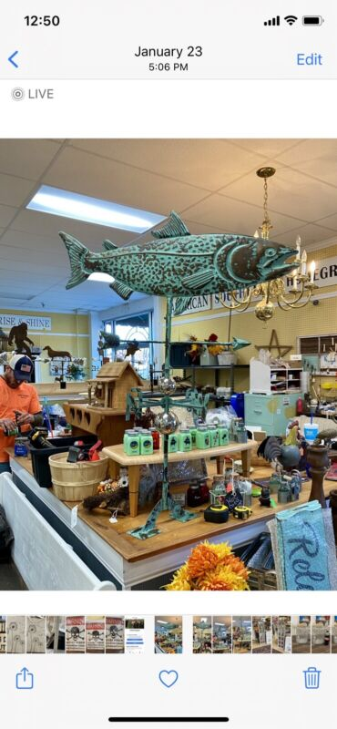 Large Trout Weather Vane