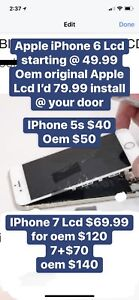 IPhone screen fix @ your home or our store batteries and iptv