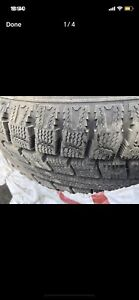 195/60 R15, 4 winter tires, thread# 11/32 Bolt pattern: 5X100