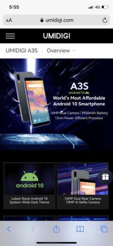 Android Phone - Umidigi A3S Android 10 4G LTE Dual Sim 2gb Ram 16gb Storage Mobile Phone