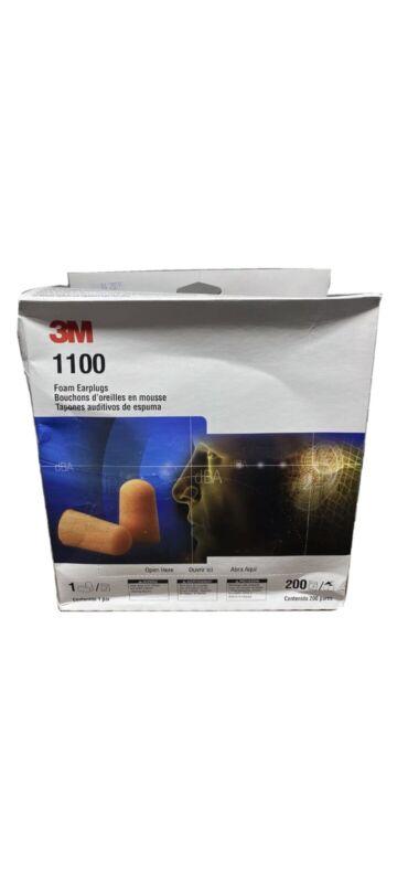 3M 1100 Foam Ear Plugs, 200-Pair Universal Brand New