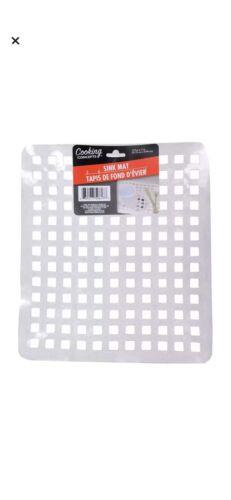 "Kitchen Sink Mats 12.5"" x 11"" Soft Clear Plastic Grid 1 Ct/Pk"