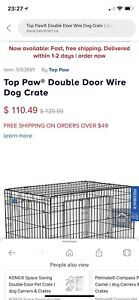 Medium size top paw crate