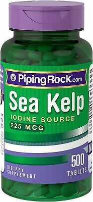 225mcg Sea Kelp Iodine 500 Daily Tablets Pills Thyroid Support Radiation Blocker