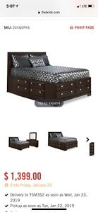 Bed frame with storage and Dresser