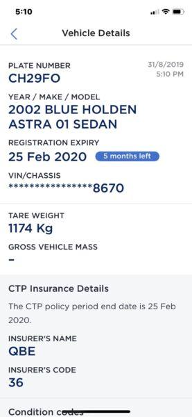 2002 holden astra rego feb 2020!!!! | Cars, Vans & Utes