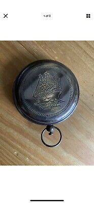 Shiny POLISHED POCKET COMPASS