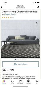 Brand New in package rug from Wayfair 9'x12'