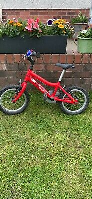 Ridgeback Terrain MX14 Kids Bike Red. Well used but still in good condition.