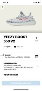Brand New Adidas Yeezy Boost 350 v2 Blue Tint - size 9 confirmed