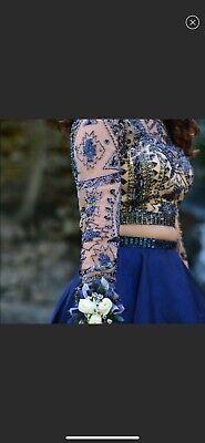 2 Piece Sherri Hill Size 2 Navy Blue homecoming/prom dress 2 Piece Blue Dress