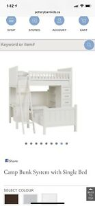 WANTED Pottery Barn Camp Bunk System with Single Bed