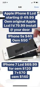 IPhone screen fix replace @ ur home/office/our store iptv also