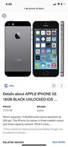 iPhone 5s black 16gb (WIND)