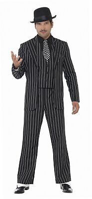 Smiffys, Herren Klassischer Gangsterboss Kostüm, Jacke, Krawatte, Weste (Klassische Gangster Kostüm)