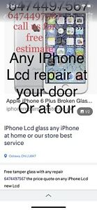 IPhone screen fix replace @ ur home or our store  muchmore iptv