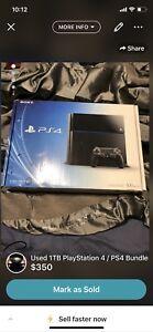 OG PlayStation 4 / PS4 Bundle 1TB*