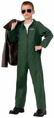 Air Force Jumpsuit Career Hero kids child boys Halloween Costume - Air Force Halloween Costume