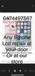 @ your home door we repair fix your any iPhone Lcd or our store