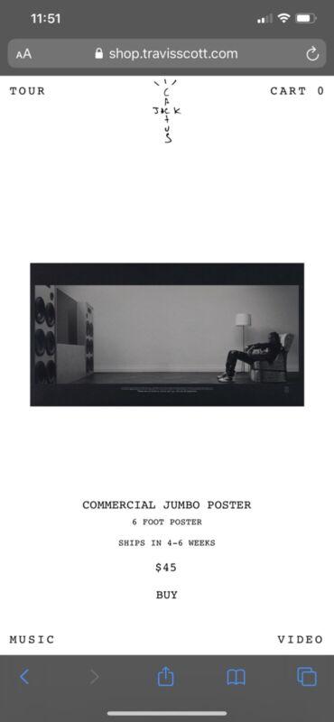 TRAVIS SCOTT CACTUS JACK x PLAYSTATION COMMERCIAL JUMBO POSTER (PRE ORDER)