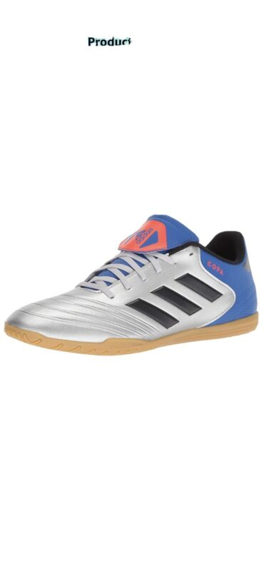 Adidas Copa Tango 18.4 Silver Blue Futsal Indoor Soccer Shoes Size 10