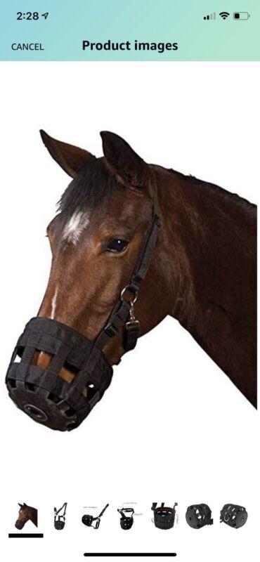 NEW Prairie Horse Supply Deluxe Grazing Muzzle-Heavy Duty Waffle Neoprene-Horse
