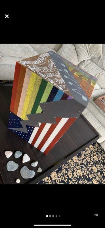 Custom Painted Vintage Floor Speaker America Pride