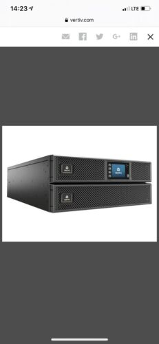 new liebert 10000va 10 000w ups gxt5