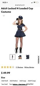 Halloween costumes women's locked n'loaded sexy policewoman